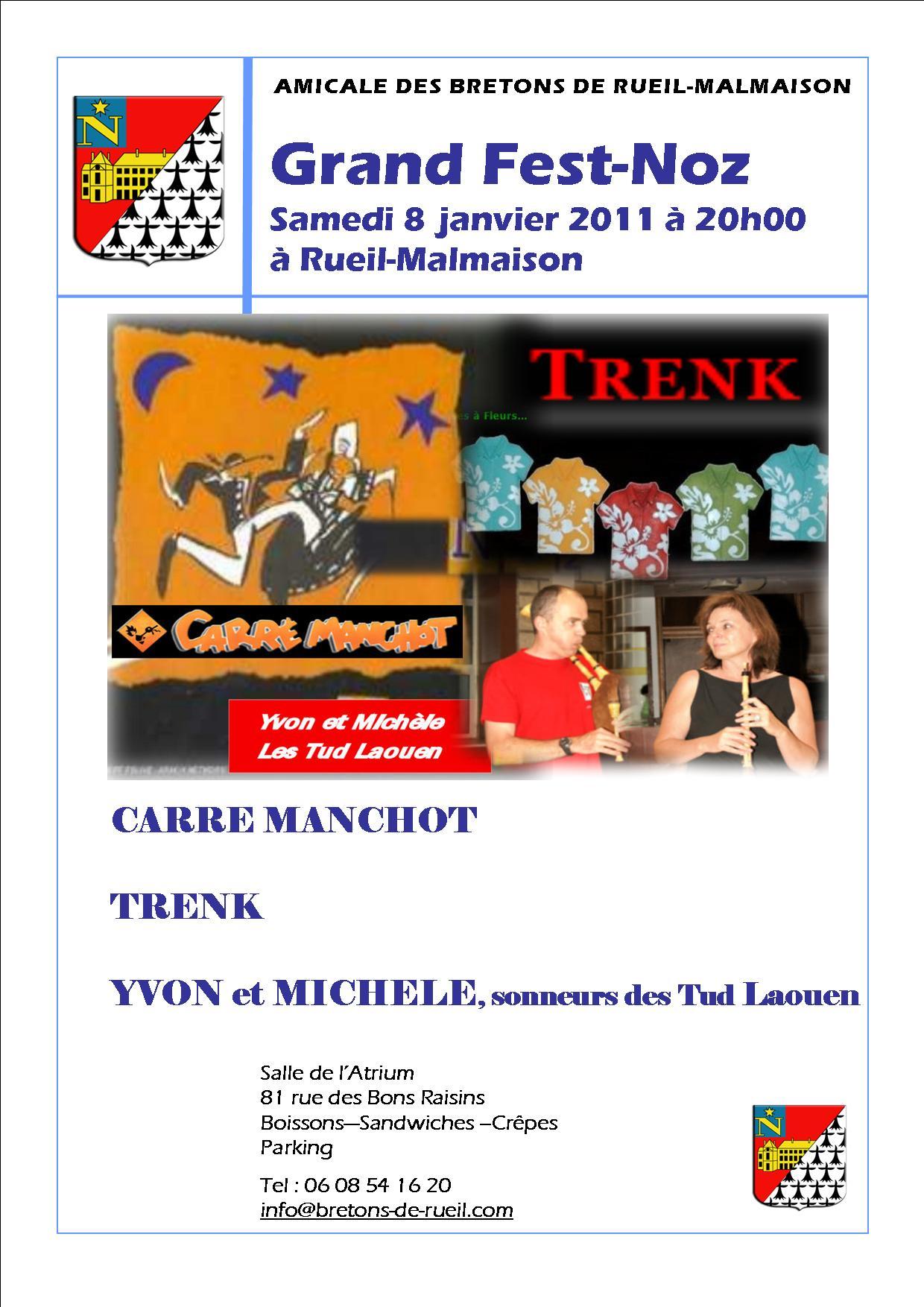 Fest-noz le 8 janvier 2011 à Rueil Malmaison (92500)